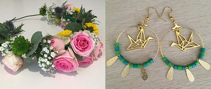 Atelier DIY bijoux et couronnes de fleurs à Miniac Morvan