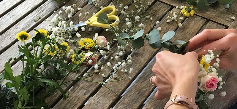 Art floral - Couronne de fleurs