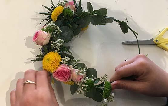 EVJF - Art floral - Couronne de fleurs