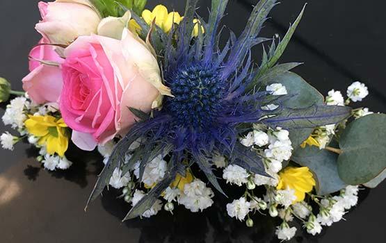 EVJF - Art floral - Barrette de fleurs