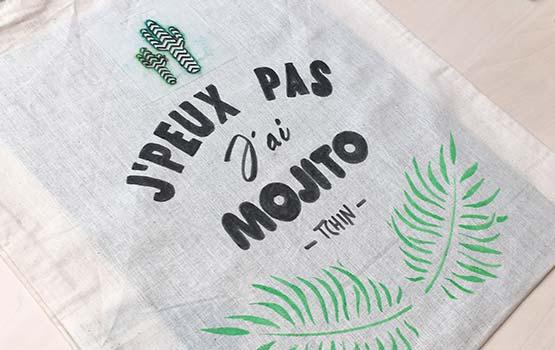 EVJF - Tote bag personnalisé - Mojito