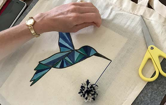 EVJF - Tote bag personnalisé avec pompon
