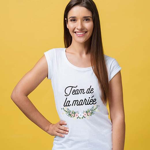 Tee shirt EVJF - Team de la mariée