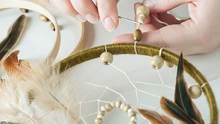 Atelier créatif à Gradignan - Tuto attrape reve