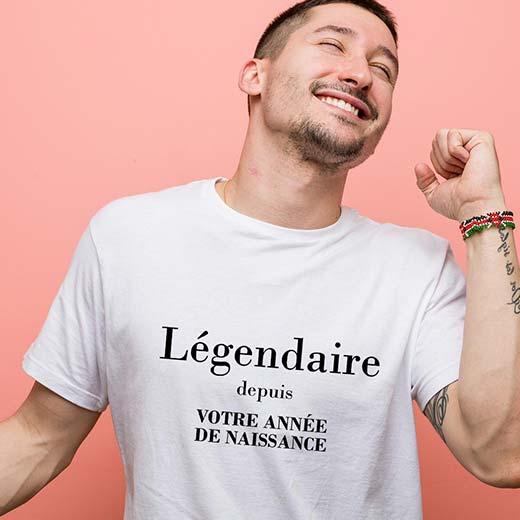 Tee shirt personnalisé EVG - Légendaire