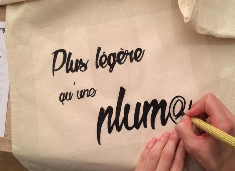 Atelier tote bag à Paris avec Aurélie