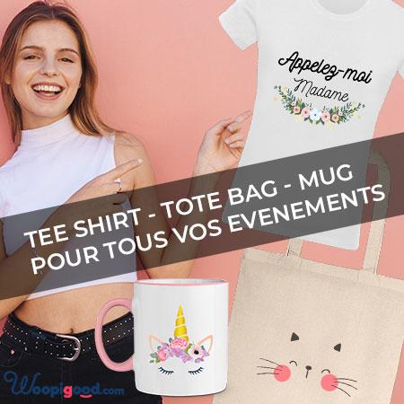 Woopigood.com - Tee shirt mug personnalisé et tote bag