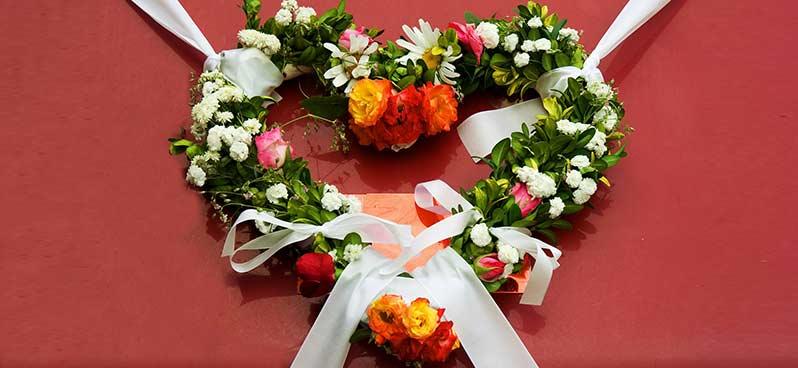 EVJF couronne de fleurs