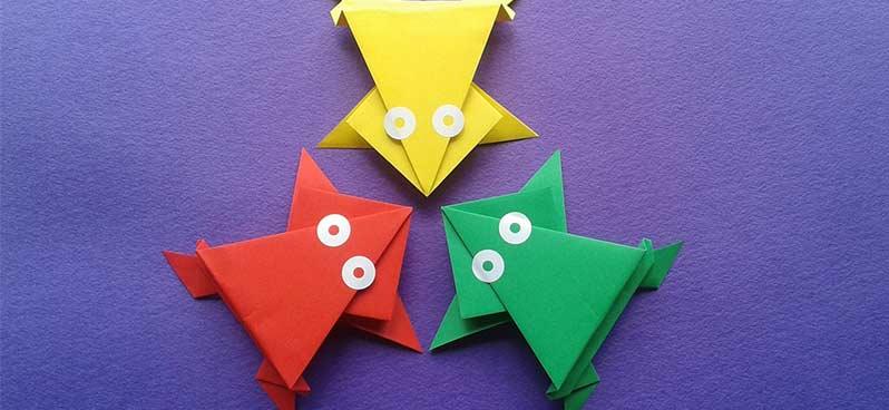 origami diy grenouille
