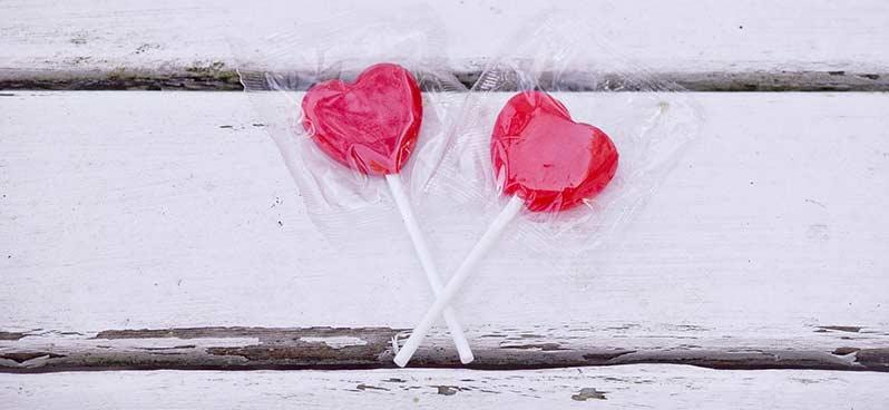 Saint Valentin sucettes coeur